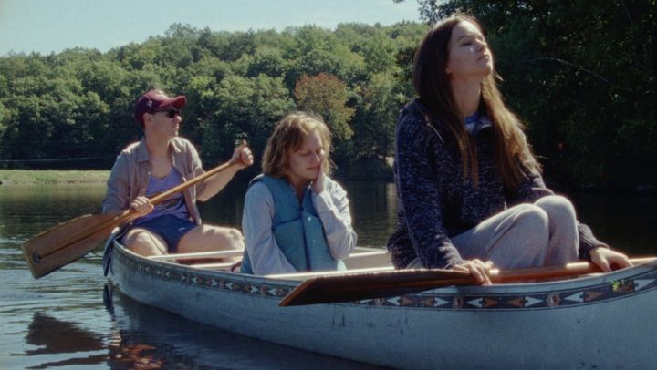 "Patrick Fugit, Elisabeth Moss and Katherine Waterston star in a scene from ""Queen of Earth."""