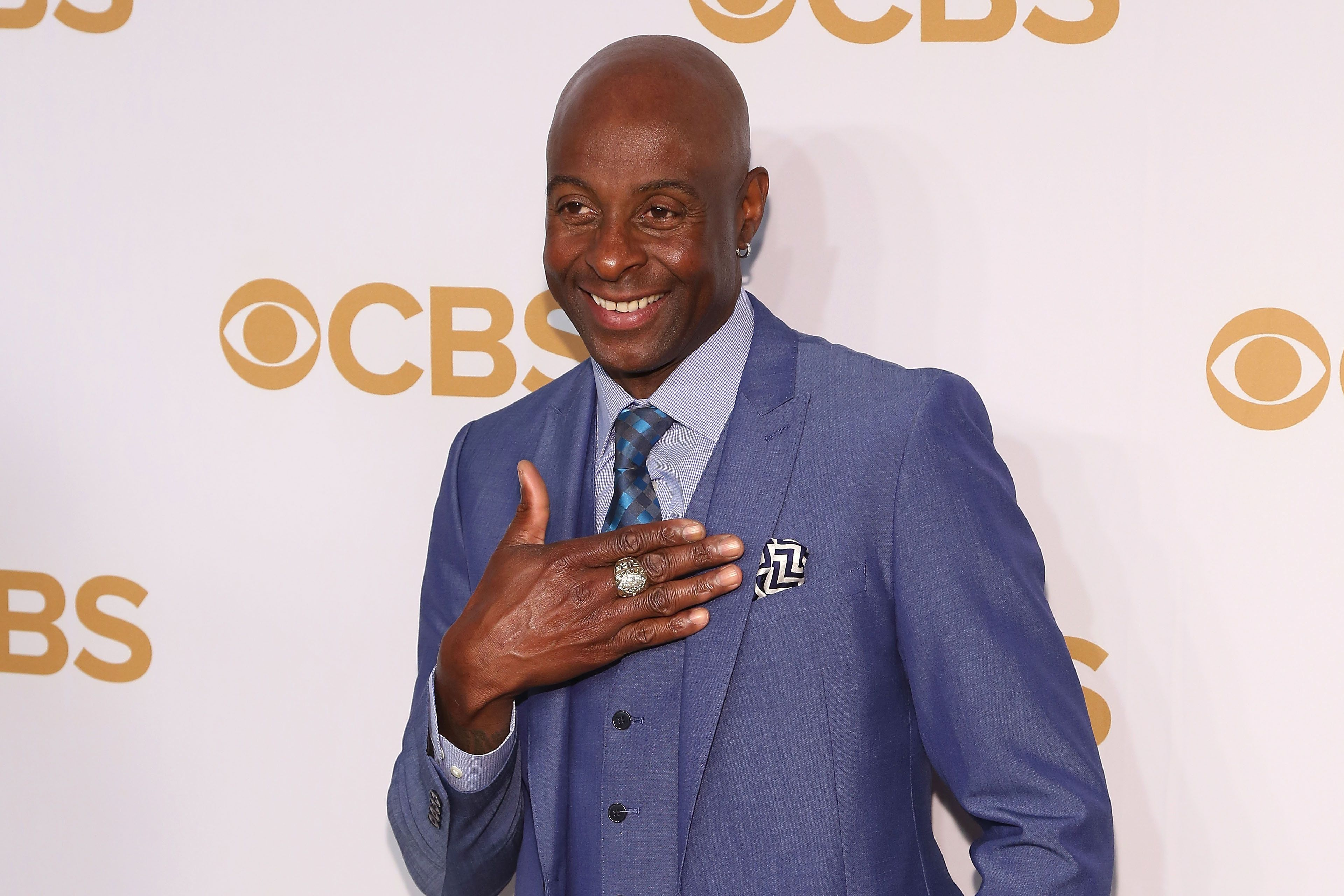 NEW YORK, NY - MAY 13:  Jerry Rice attends the 2015 CBS Upfront at The Tent at Lincoln Center on May 13, 2015 in New York City.  (Photo by Taylor Hill/Getty Images)