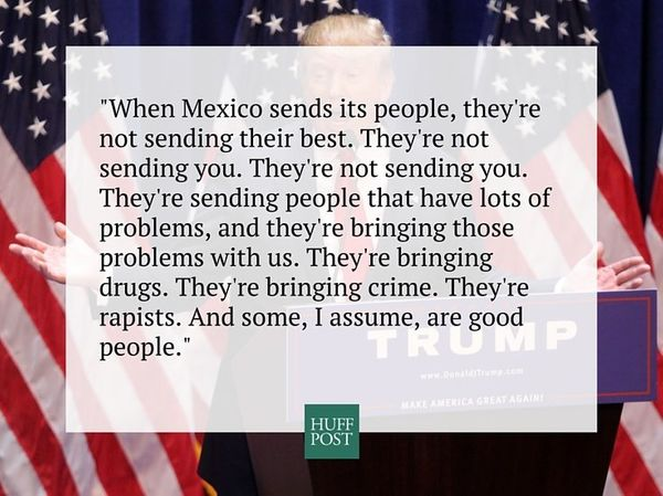 Image result for trump saying mexicans are rapists