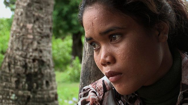 """Aya, whose story is told in""""The Storm Makers,"""" recalls her experience as a slave."""