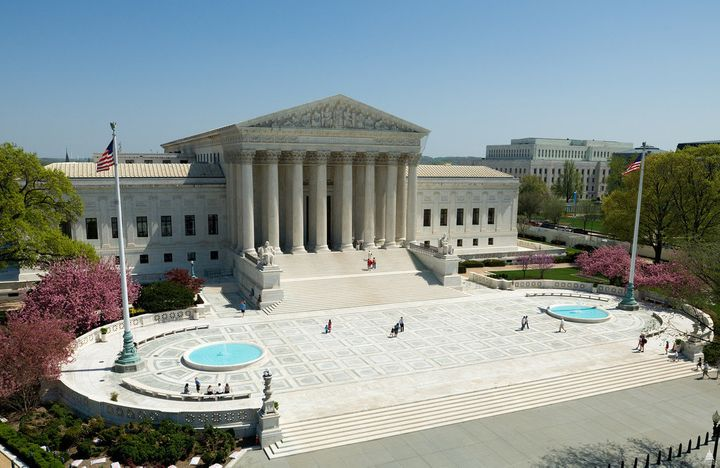 """A federal appeals court ruled that the elevated marble plaza surrounding the Supreme Court building is a """"nonpublic forum."""""""