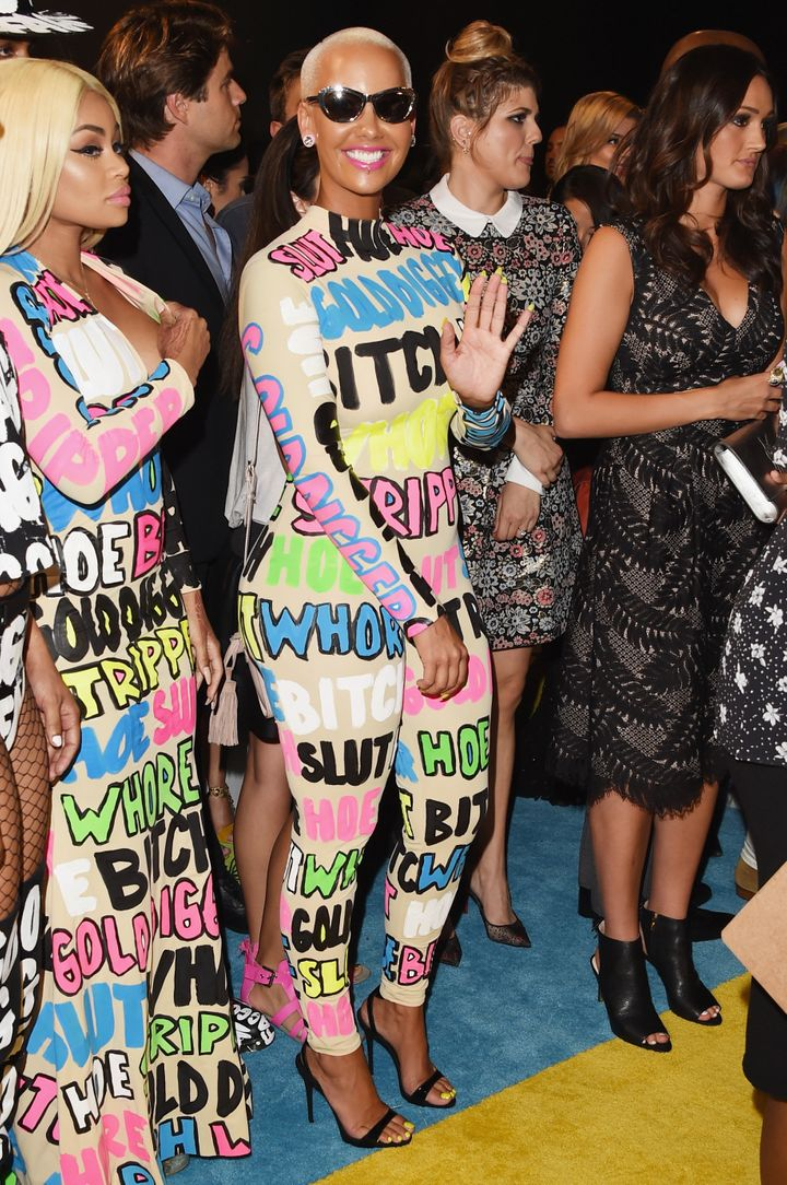Amber Rose And Blac Chyna Make Bold Statements On The VMAs Red Carpet