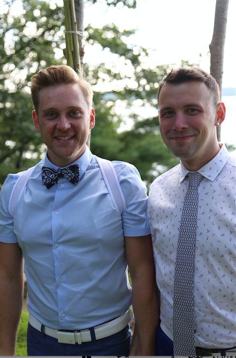 Buchanan (left) and Gilbert were married on Aug. 23, 2015.
