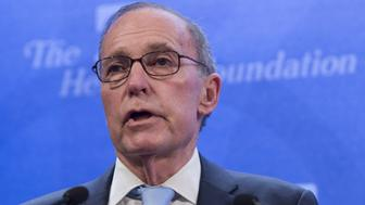 Larry Kudlow, a CNBC commentator, speaks about the economy during a panel discussion at  the Heritage Foundation on December 18, 2014 in Washington, DC. AFP PHOTO / SAUL LOEB        (Photo credit should read SAUL LOEB/AFP/Getty Images)
