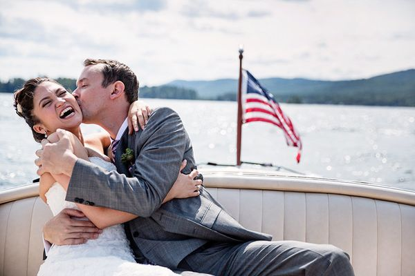 """""""Melody and Jason's wedding in Lake George, New York."""" -Tracey Buyce"""