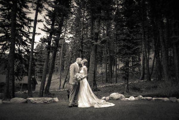 """""""Kristen and Derek's wedding at The Woodlands in Bozeman, Montana."""" - Britta Marti"""