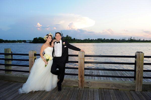 """Tania and Joseph at their Wilmington, North Carolina wedding along the Cape Fear River."" - Tania"