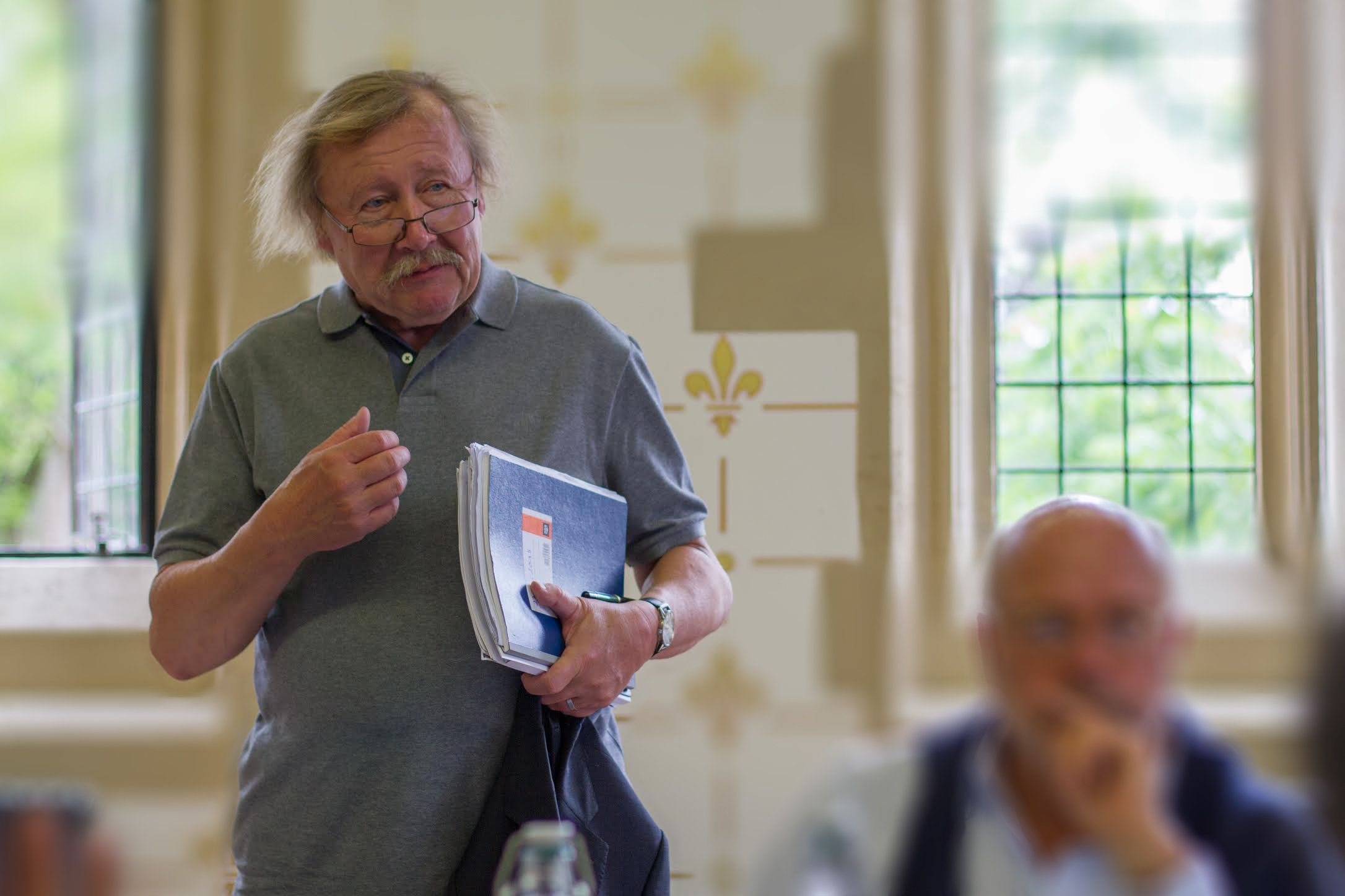 <span>Peter Sloterdijk at the <span>Berggruen Center on Philosophy and Culture symposium</span> at St. John's Colle