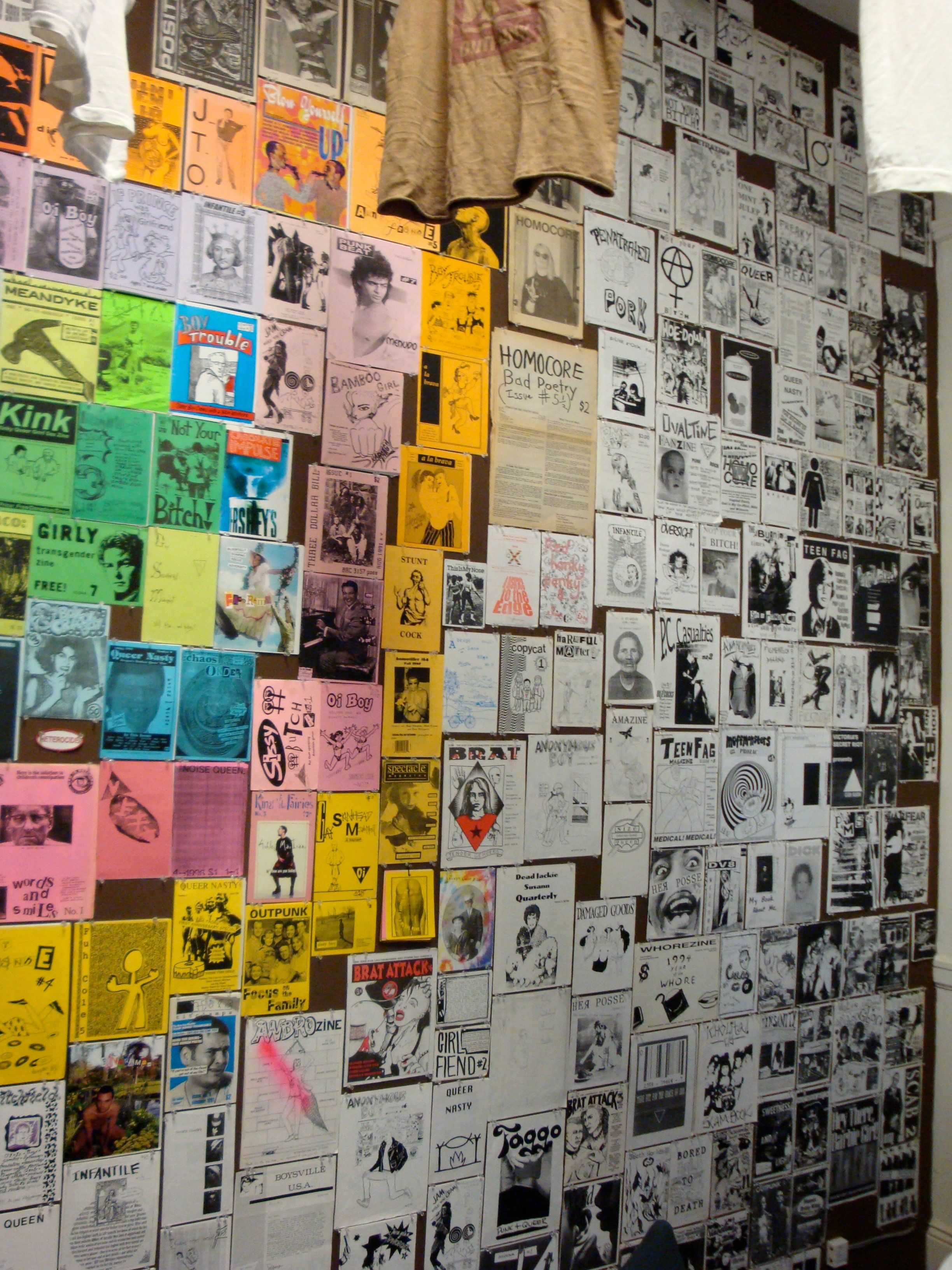 """Queer Zine show opening - the show is up through August 2009.   """"Yes I Am, But Who Am I Really?"""" Queercore zines and ephemera from the late 80s through 90s  <a href=""""http://goteblud.com"""" rel=""""nofollow"""">goteblud.com</a>"""
