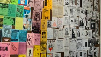 """Queer Zine show opening - the show is up through August 2009.   &quot;Yes I Am, But Who Am I Really?&quot; Queercore zines and ephemera from the late 80s through 90s  <a href=""""http://goteblud.com"""" rel=""""nofollow"""">goteblud.com</a>"""