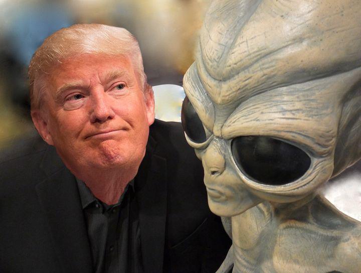 """Résultat de recherche d'images pour """"trump and alien"""""""