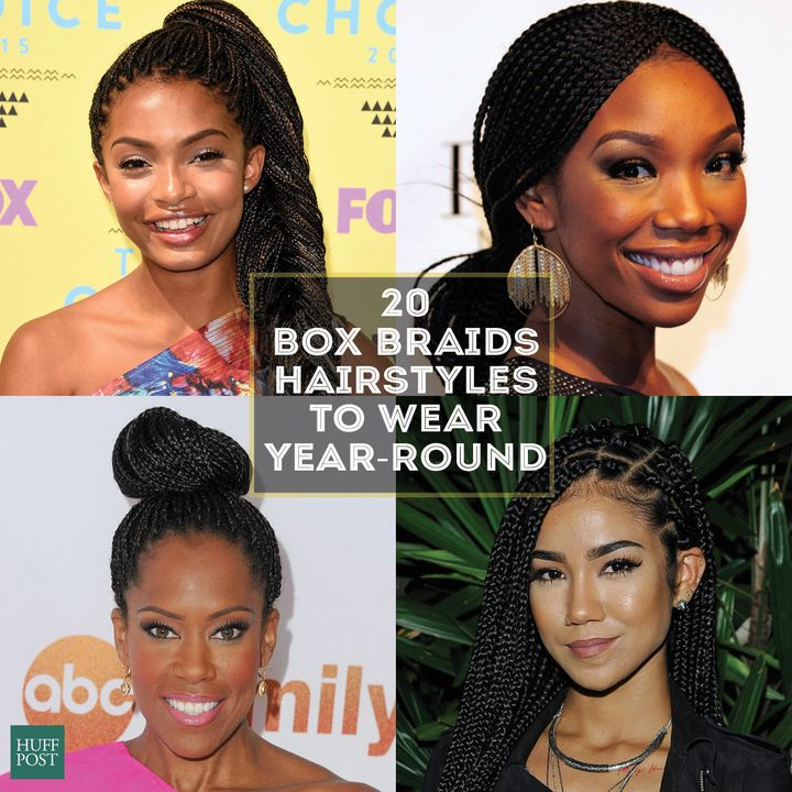 20 Badass Box Braids Hairstyles That You Can Wear Year Round Huffpost Life