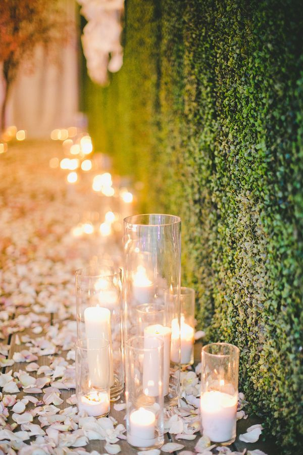 18 impossibly romantic ways to use candles at your wedding Best candles for romantic night