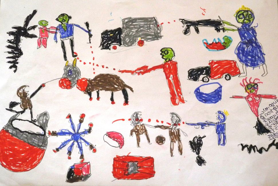 <span>&nbsp;A picture by a 13-year-old boy, a Nigerian refugee who fled Boko Haram attacks.&nbsp;</span> &nbsp;