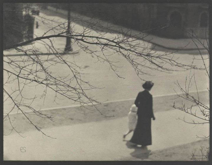 Riverside Drive and 83rd Street, New York, 1914. Paul Strand (American, 1890–1976). Vintage platinum print: 24.4 x 31.7