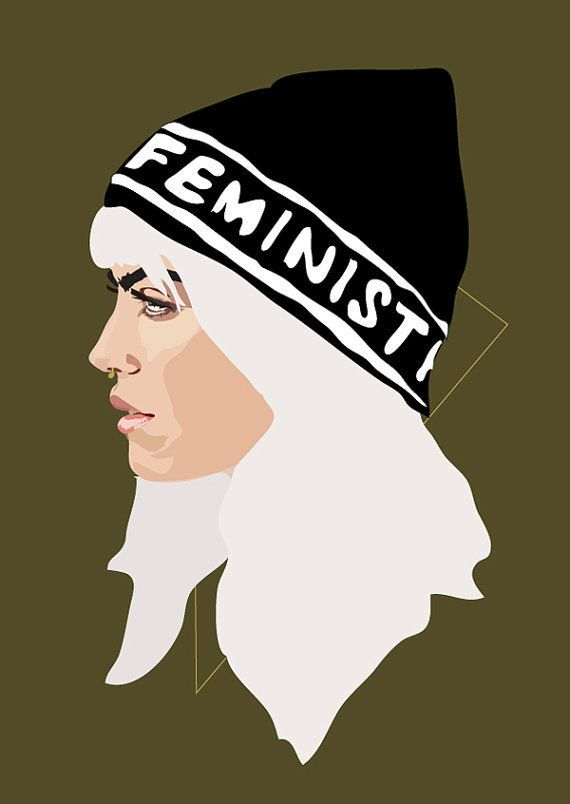 "<em>Buy it <a href=""https://www.etsy.com/listing/235973300/feminist-gold-a4-signed-art-print?ga_order=most_relevant"">here</a>"
