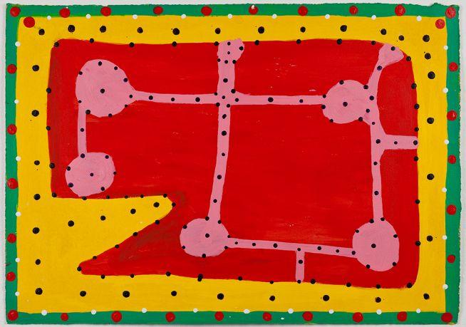 Ngarra, Yalyalji and Malngirri, 2006 Synthetic polymer paint on paper. 14 x 20 inches. © Ngarra estate, courtesy Mossens
