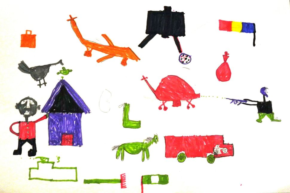 <span>A picture by a 12-year-old boy, a Nigerian refugee who fled Boko Haram attacks.</span><span>&nbsp;</span> &nbsp;