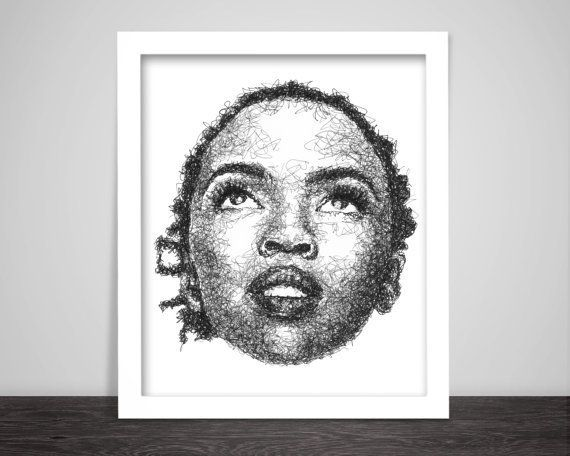 "<em>Buy it <a href=""https://www.etsy.com/listing/237391036/scribbled-lauryn-hill-hip-hop-poster?ga_order=most_relevant"">here<"