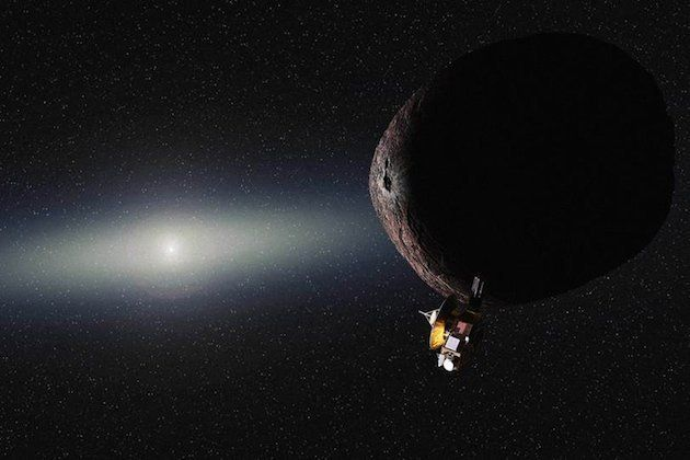 <span>An artist's impression of NASA's New Horizons spacecraft encountering a Pluto-like object in the distant Kuiper belt.</
