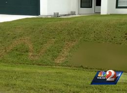 Racial Slur Burned Into Florida Man's Front Lawn