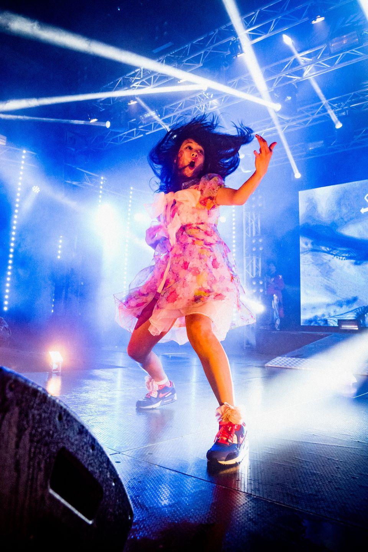 "Nanami ""Seven Seas"" Nagura performs during the 2015 Air Guitar World"