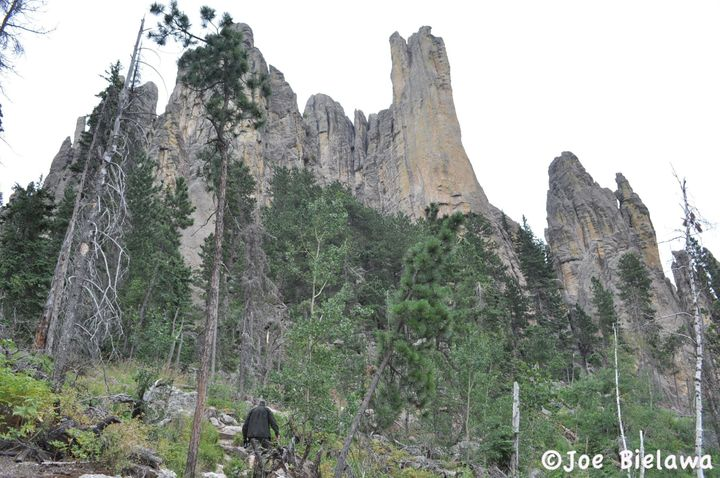 Harney Peak's original name is either Hinhan Kaga or He Winchinchala Sakowin Hocokata, according to the Lakota people.