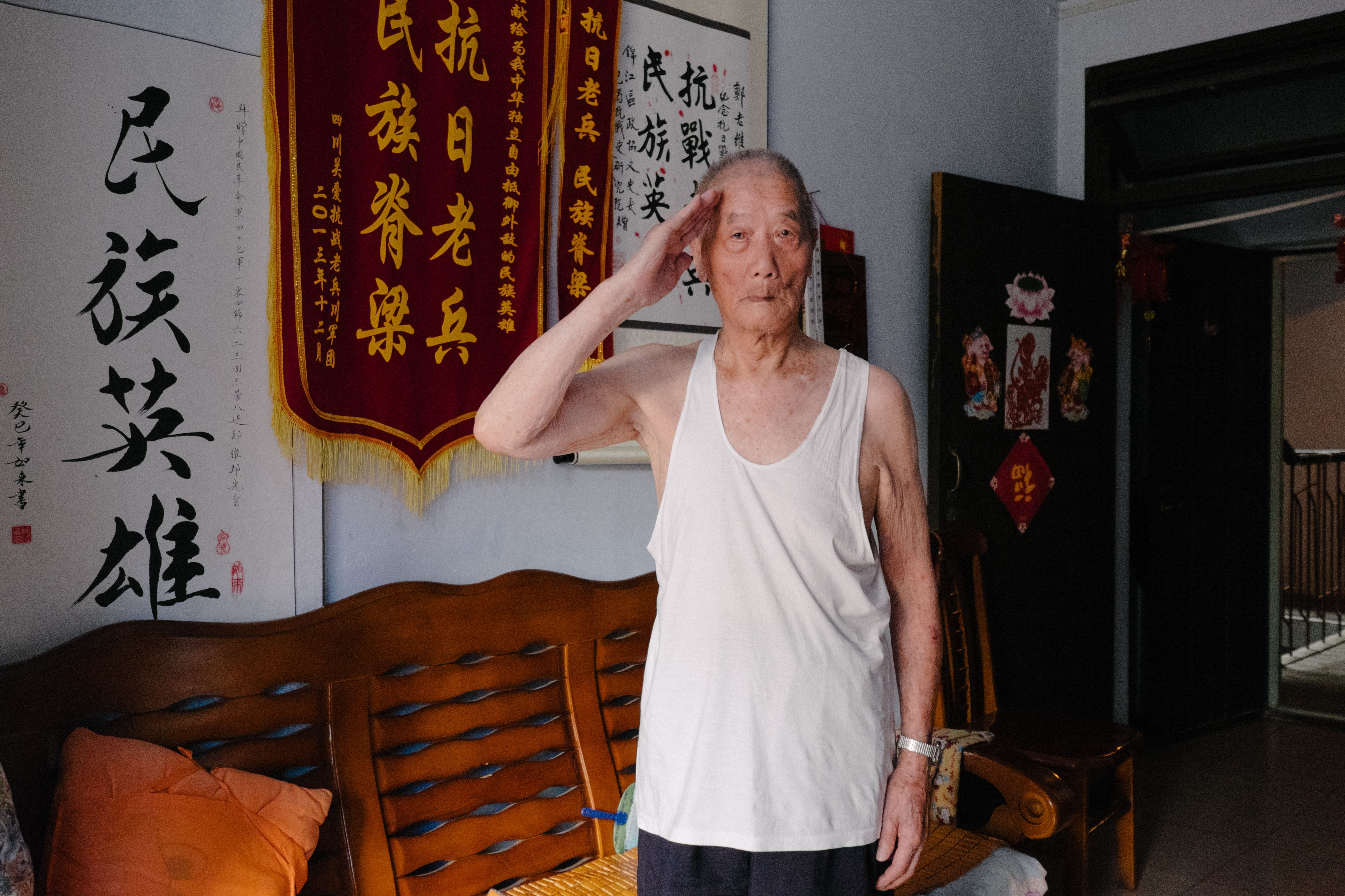 """<span>""""I want to thank America's Flying Tigers,"""" Zheng Weibang says.</span>"""
