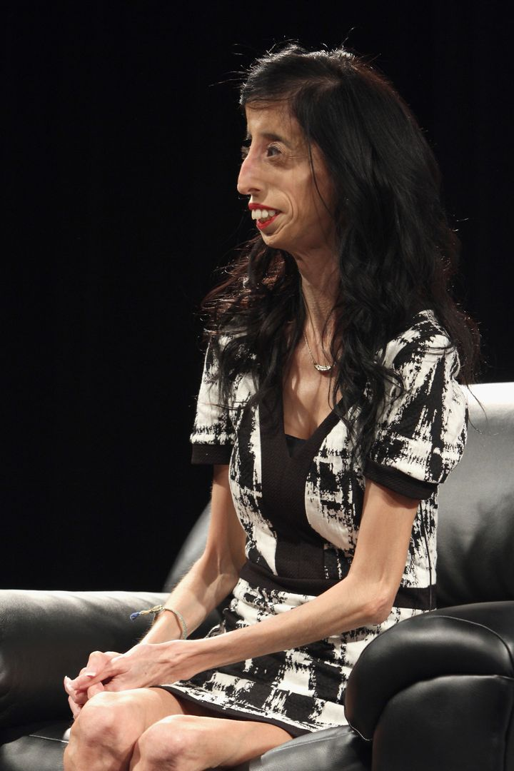 <span>AUSTIN, TX - MARCH 15: Lizzie Velasquez speaks onstage at 'A Conversation With YouTube Celebrities iJustine And Lizzie