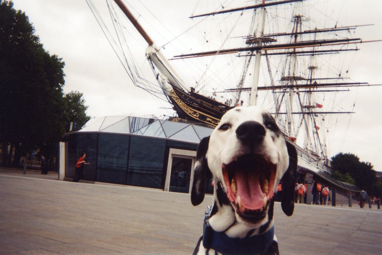 """<p>""""Mr Bond and the Cutty Sark, Greenwich,"""" by photographer ROL. This photo will be the cover image for the 2016 calendar, Cafe Art says. </p>"""