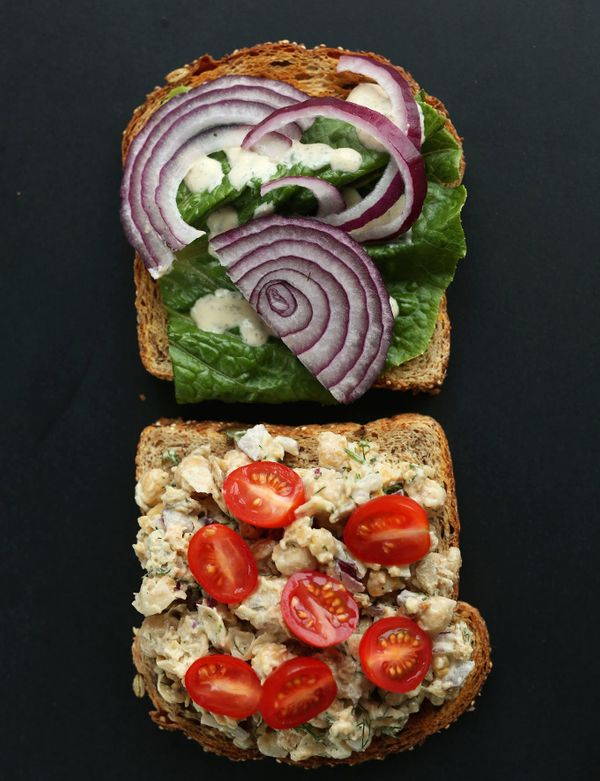 "<strong>Get the<a href=""http://minimalistbaker.com/chickpea-sunflower-sandwich/"" target=""_blank""> Chickpea Sunflower Sandwich"
