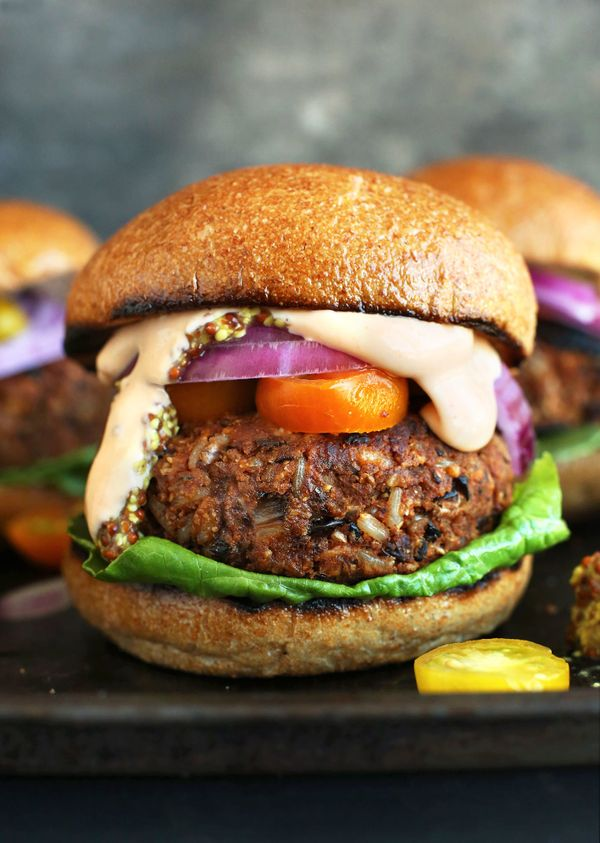 "<strong>Get the <a href=""http://minimalistbaker.com/easy-grillable-veggie-burgers/"" target=""_blank"">Easy Grillable Veggie Bur"