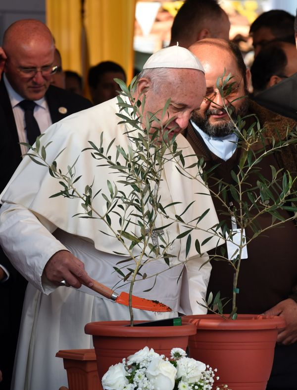 Francis became the first pope ever to use scientific data in a major teaching document by calling global warming a largely ma