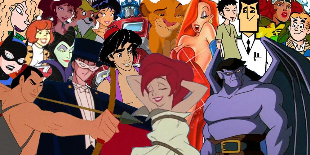 cartoon characters naked Disney