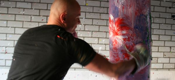 Boxing Painter Is A Hit In The Art World