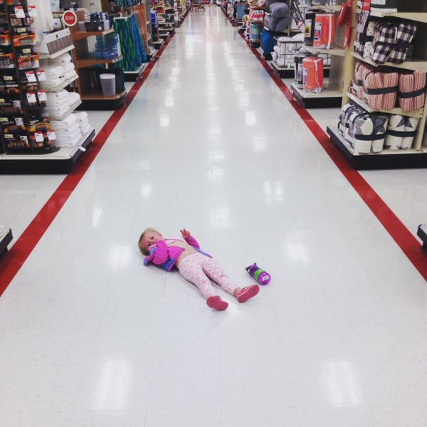 """Shopping at Target with a 3-year-old."""