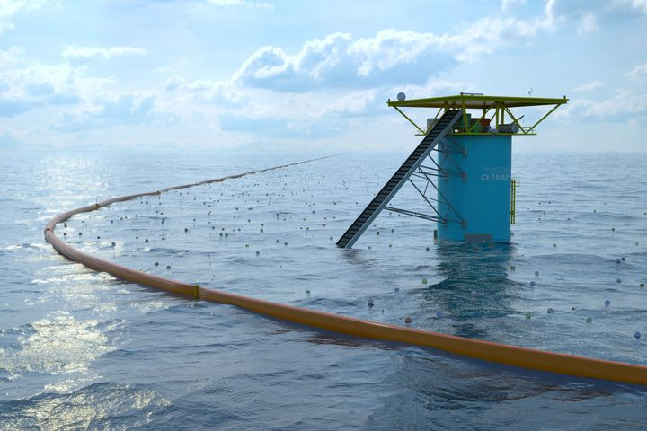 The Ocean Cleanup hopes to deploy a series of barriers that will collect plastic trash in the Pacific Ocean.
