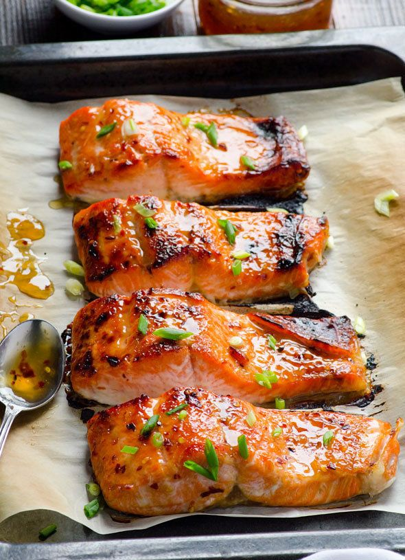 """<strong>Get the <a href=""""http://ifoodreal.com/clean-eating-baked-thai-salmon-recipe/"""">Thai Baked Salmon recipe</a>from"""