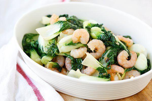 """Get the <a href=""""http://rasamalaysia.com/baby-bok-choy-with-garlic-and-shrimp/2/"""">Baby Bok Choy With Garlic And Shrimp recipe"""