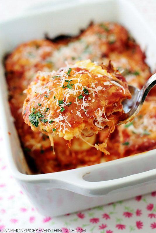 """<strong>Get the <a href=""""http://www.cinnamonspiceandeverythingnice.com/three-ingredient-ravioli-lasagna/"""">3-Ingredient Raviol"""