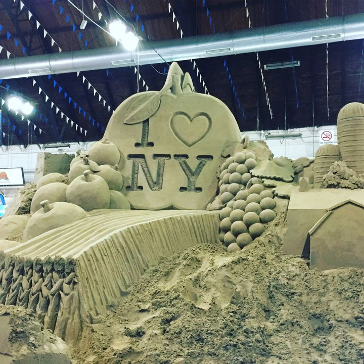 This amazing sand sculpture was on display at the Center of Progress Building.