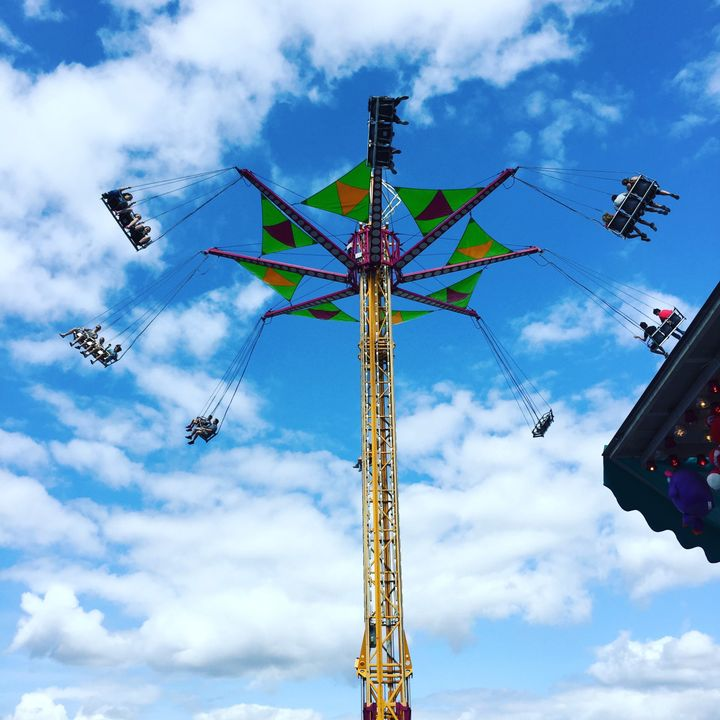 White-knuckle amusement rides were a highlight of the fair's midway.