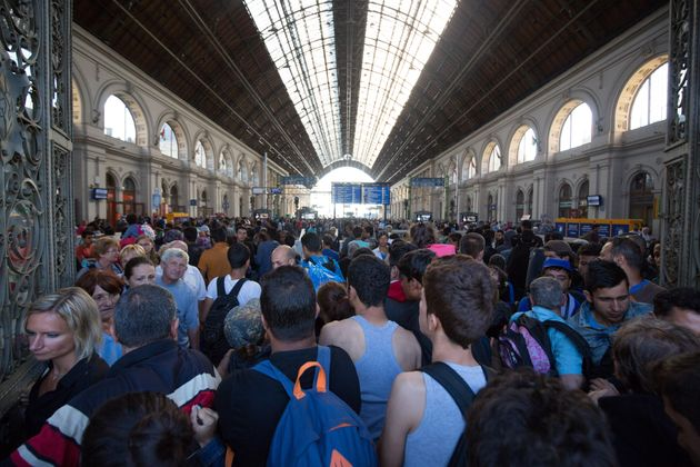 Migrants Clash With Police After Budapest Train Station