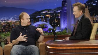 THE TONIGHT SHOW WITH CONAN O'BRIEN -- Episode 68 -- Air Date 09/17/2009 -- Pictured: (l-r) Louis CK during an interview with host Conan O'Brien on September 17, 2009 -- Photo by: Paul Drinkwater/NBCU Photo Bank