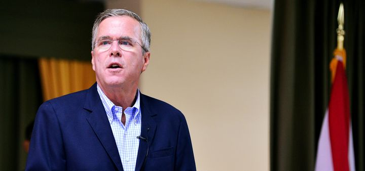 <p>GOP presidential candidate Jeb Bush said he would support Donald Trump if he won the nomination.</p>