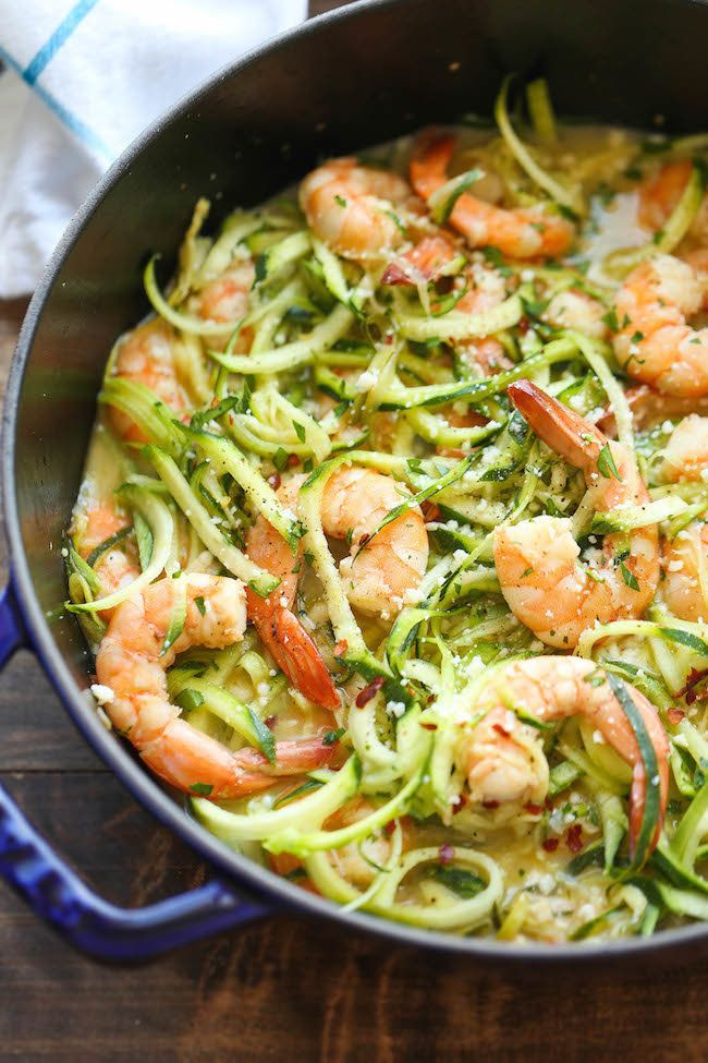 """<strong>Get the <a href=""""http://damndelicious.net/2015/01/24/zucchini-shrimp-scampi/"""">Zucchini Shrimp Scampi recipe</a>"""