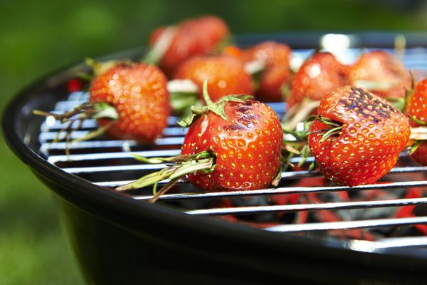 Herbs and grills are soul mates. Skewer meats and fruit with rosemary (or cinnamon sticks) to infuse them with flavor from th