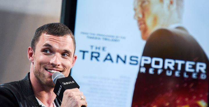"Ed Skrein talks ""Transporter: Refueled."""