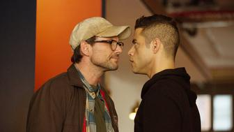Christian Slater and Rami Malek in 'Mr. Robot.'