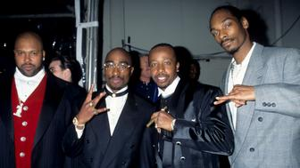 Suge Night, Snoop Dogg, MC Hammer and Tupac Shakur (Photo by Kevin Mazur Archive/WireImage)